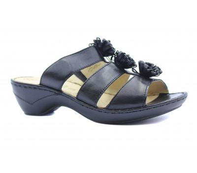 Сабро Caprice черные кожаные 27252-28
