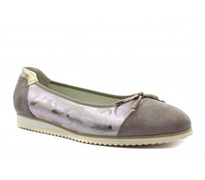 Туфли Gabor из нубука серые 43100