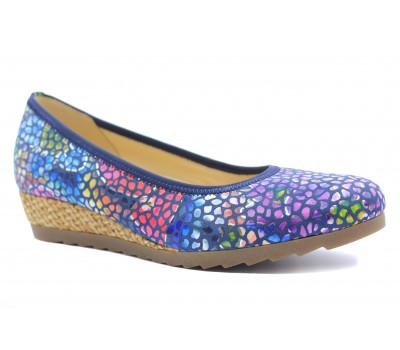 Туфли Gabor кожаные комбинированного цвета  62641