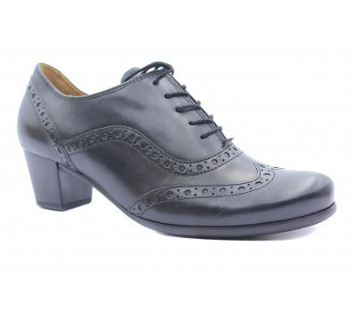 Демисезонные туфли Gabor кожаные черные 05460