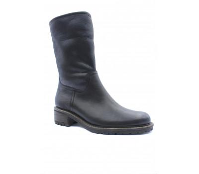 Зимние полусапоги Gabor кожаные черные 56090.27