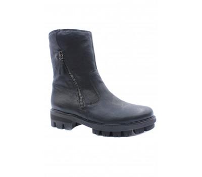 Зимние полусапоги Gabor кожаные черные 53711-77