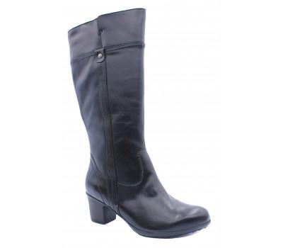 Зимние сапоги Jana кожаные черные 26515-21