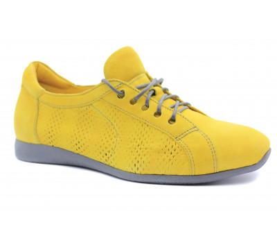 Полуботинки Think из нубука желтые 84090-13
