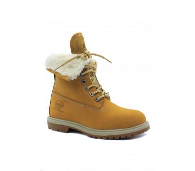 Зимние ботинки Dockers из нубука песочные 190723