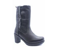 Зимние полусапоги Dockers кожаные черные