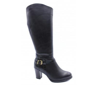 Зимние сапоги Tamaris кожаные черные 26584-31
