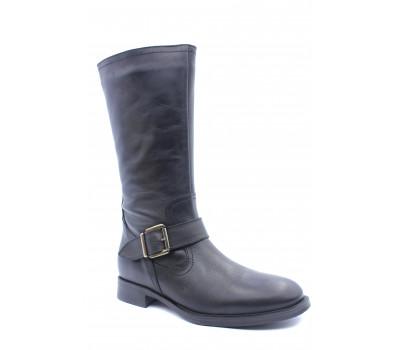 Зимние сапоги Tamaris кожаные черные 26036-23