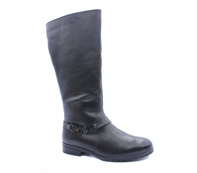 Сапоги зимние Caprice кожаные черные 26560-33