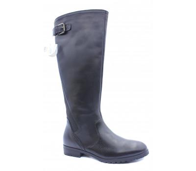 Демисезонные сапоги  Caprice кожаные черные 25551-23