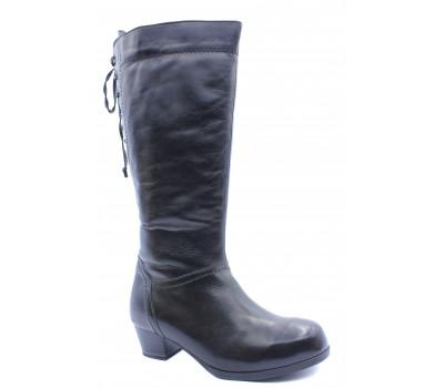 Сапоги зимние Caprice кожаные черные 26552-29