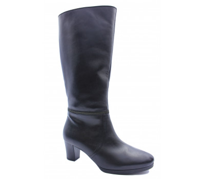 Демисезонные сапоги Gabor кожаные черные 96597