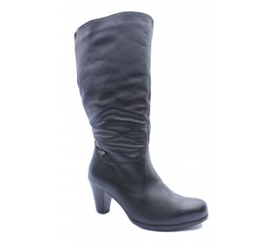 Зимние сапоги  Janita кожаные черные 42599