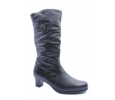 Зимние сапоги  Janita кожаные черные 41547