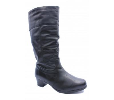 Зимние сапоги  Janita кожаные черные 43359