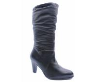 Зимние сапоги Janita кожаные черные