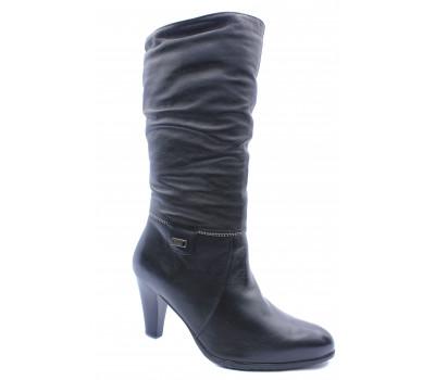 Зимние сапоги  Janita кожаные черные 41529