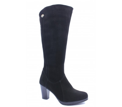 Зимние сапоги  Janita замшевые черные 58159