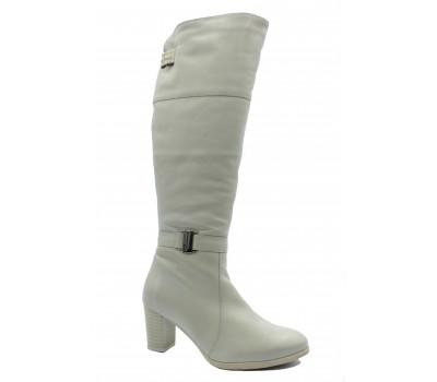 Зимние сапоги  Janita кожаные белые 53079