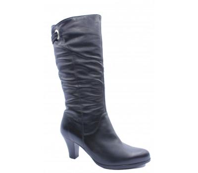 Зимние сапоги  Janita кожаные черные 40937