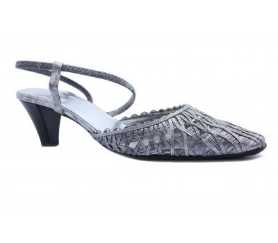 Босоножки Hogl кожаные серебряные 5-105190
