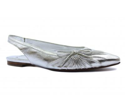 Босоножки K&S кожаные серебряные 17370-124