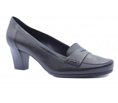 Туфли осенние Hogl кожаные черные 8-105210