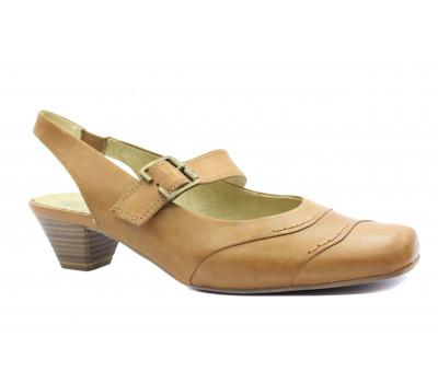 Босоножки Caprice песочные кожаные 29507-24