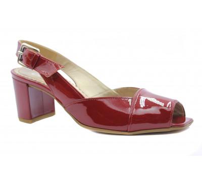 Босоножки Gabor красные из лакированной кожи 81760