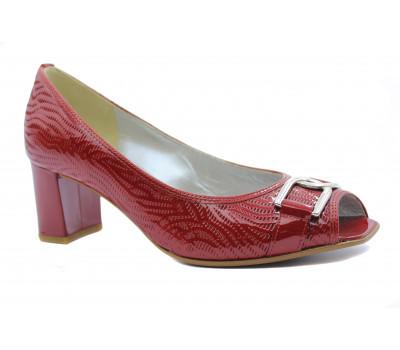 Туфли Gabor красные из лакированной кожи 81664