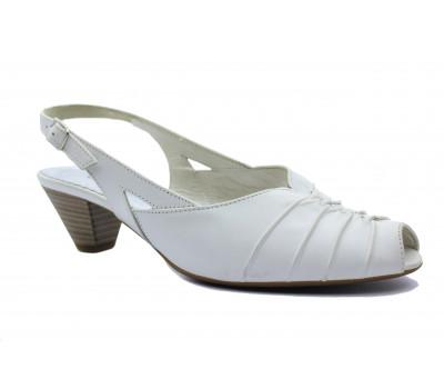 Босоножки Gabor белые кожаные 46557