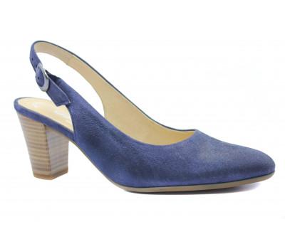 Босоножки Gabor темно-синие кожаные 42260