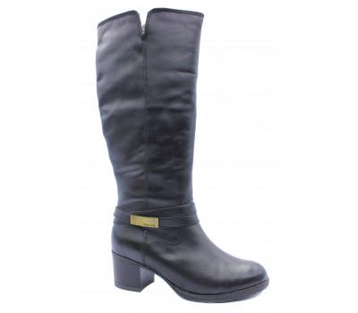 Зимние сапоги Tamaris кожаные черные 26539-21