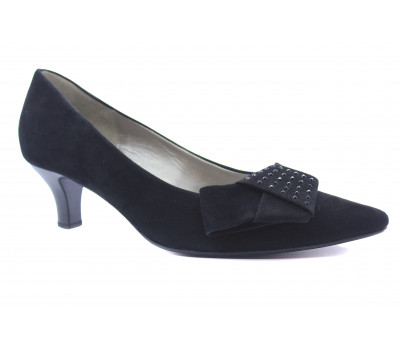 Модельные туфли Gabor замшевые черные 91251