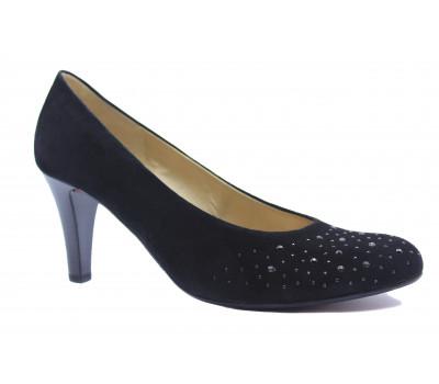 Модельные туфли Gabor замшевые черные 95212