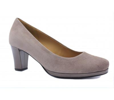 Туфли Gabor темно-бежевые замшевые 52190