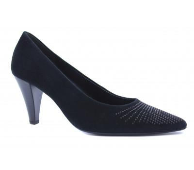 Модельные туфли Gabor замшевые черные 31281