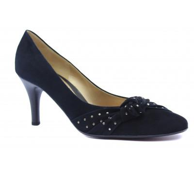 Модельные туфли Gabor замшевые черные 35212