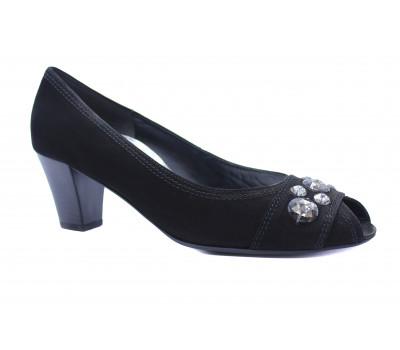 Модельные туфли Gabor из нубука черные 26283