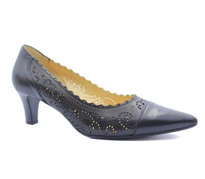 Модельные туфли Gabor кожаные черные 41252