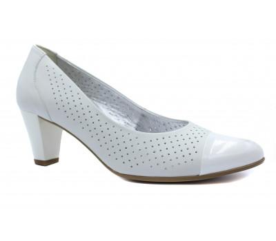 Модельные туфли Gabor кожаные белые 86171
