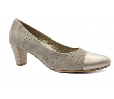 Модельные туфли Gabor замшевые бежевые 86171