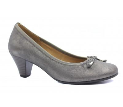 Модельные туфли Gabor кожаные серые 85481