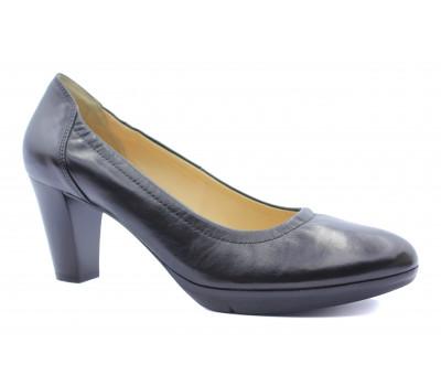 Туфли осенние Hogl кожаные черные 5-105700