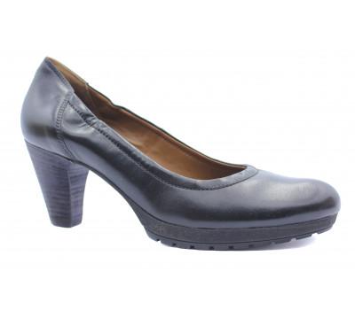 Туфли осенние Hogl кожаные черные 3-105703