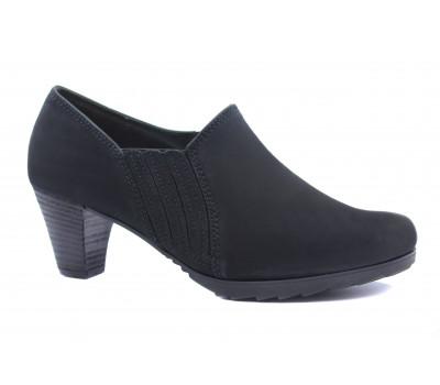 Демисезонные туфли Gabor из нубука черные 52091