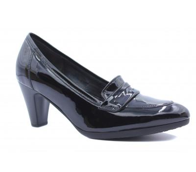 Демисезонные туфли Gabor из лакированной кожи черные 75391