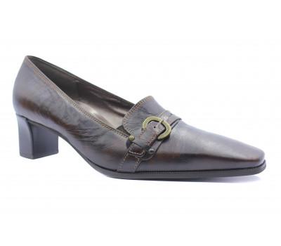 Туфли Gabor кожаные темно-коричневые 56162