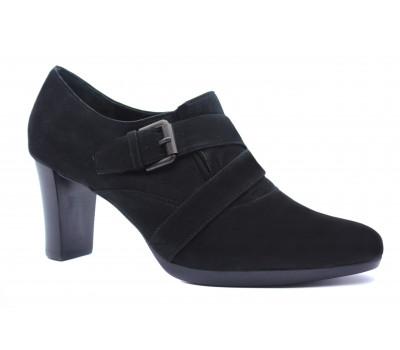 Закрытые туфли Hogl из нубука черные 2-106131