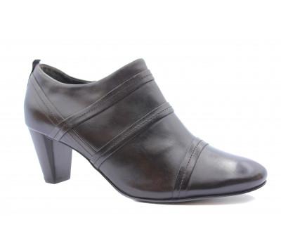 Закрытые туфли Hogl кожаные темно-коричневые 0-105421